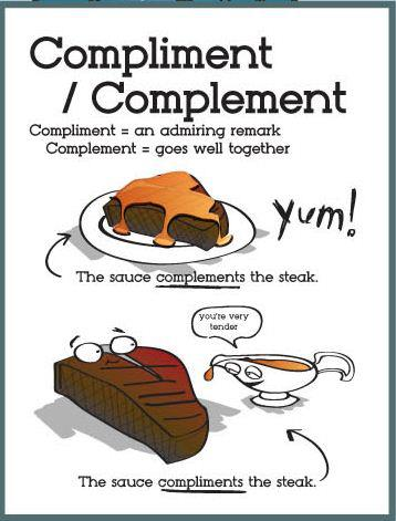 Complement-v-compliment