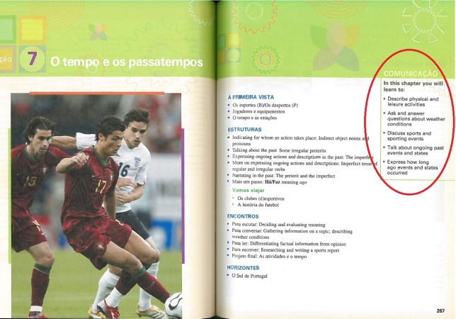 Цели и задачи -- учебник португальского (2014)